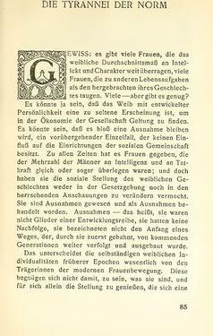 Image of the Page - 85 - in Zur Kritik der Weiblichkeit