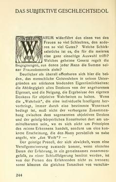 Image of the Page - 244 - in Zur Kritik der Weiblichkeit