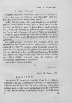 Bild der Seite - 99 - in Kronprinz Rudolf - Politische Briefe an einen Freund 1882-1889