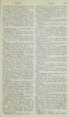 Image of the Page - 197 - in Lateinisch-Deutsches und Deutsch-Lateinisches Schul-Wörterbuch - Lateinisch-Deutscher Theil