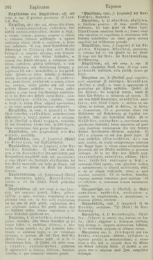 Bild der Seite - 282 - in Lateinisch-Deutsches und Deutsch-Lateinisches Schul-Wörterbuch - Lateinisch-Deutscher Theil