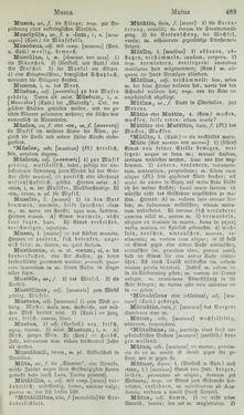 Bild der Seite - 489 - in Lateinisch-Deutsches und Deutsch-Lateinisches Schul-Wörterbuch - Lateinisch-Deutscher Theil