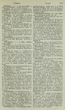 Image of the Page - 605 - in Lateinisch-Deutsches und Deutsch-Lateinisches Schul-Wörterbuch - Lateinisch-Deutscher Theil