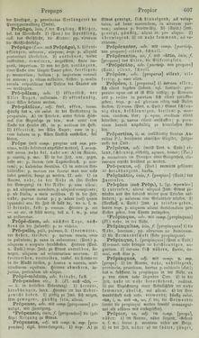 Image of the Page - 607 - in Lateinisch-Deutsches und Deutsch-Lateinisches Schul-Wörterbuch - Lateinisch-Deutscher Theil