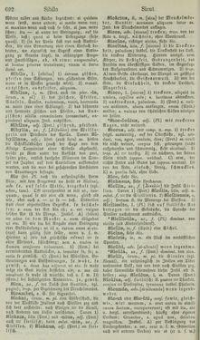 Image of the Page - 692 - in Lateinisch-Deutsches und Deutsch-Lateinisches Schul-Wörterbuch - Lateinisch-Deutscher Theil
