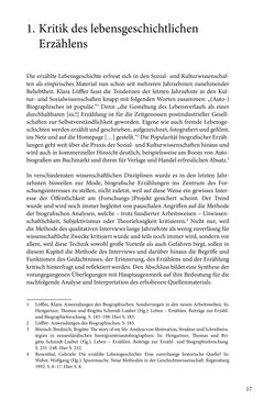 Image of the Page - 17 - in Erzählen vom Leben im 20. Jahrhundert - Erinnerungspraxis und Erzähltraditionen in lebensgeschichtlichen Interviews am Beispiel der Region Montafon/Vorarlberg
