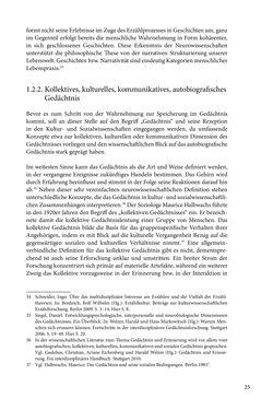 Image of the Page - 25 - in Erzählen vom Leben im 20. Jahrhundert - Erinnerungspraxis und Erzähltraditionen in lebensgeschichtlichen Interviews am Beispiel der Region Montafon/Vorarlberg