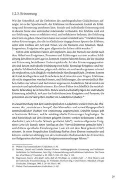 Image of the Page - 29 - in Erzählen vom Leben im 20. Jahrhundert - Erinnerungspraxis und Erzähltraditionen in lebensgeschichtlichen Interviews am Beispiel der Region Montafon/Vorarlberg