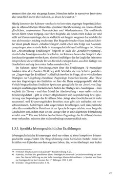 Image of the Page - 35 - in Erzählen vom Leben im 20. Jahrhundert - Erinnerungspraxis und Erzähltraditionen in lebensgeschichtlichen Interviews am Beispiel der Region Montafon/Vorarlberg