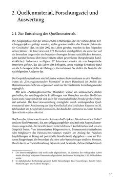 Image of the Page - 47 - in Erzählen vom Leben im 20. Jahrhundert - Erinnerungspraxis und Erzähltraditionen in lebensgeschichtlichen Interviews am Beispiel der Region Montafon/Vorarlberg