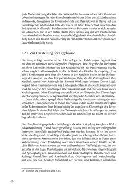 Image of the Page - 60 - in Erzählen vom Leben im 20. Jahrhundert - Erinnerungspraxis und Erzähltraditionen in lebensgeschichtlichen Interviews am Beispiel der Region Montafon/Vorarlberg
