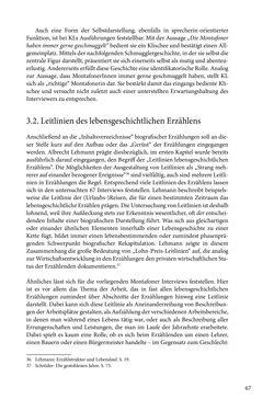 Image of the Page - 67 - in Erzählen vom Leben im 20. Jahrhundert - Erinnerungspraxis und Erzähltraditionen in lebensgeschichtlichen Interviews am Beispiel der Region Montafon/Vorarlberg