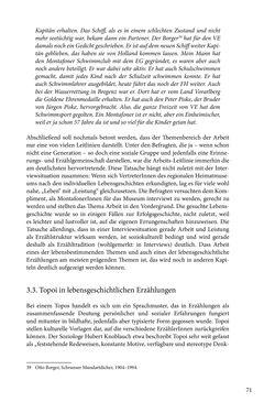 Image of the Page - 71 - in Erzählen vom Leben im 20. Jahrhundert - Erinnerungspraxis und Erzähltraditionen in lebensgeschichtlichen Interviews am Beispiel der Region Montafon/Vorarlberg