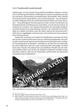 Image of the Page - 84 - in Erzählen vom Leben im 20. Jahrhundert - Erinnerungspraxis und Erzähltraditionen in lebensgeschichtlichen Interviews am Beispiel der Region Montafon/Vorarlberg