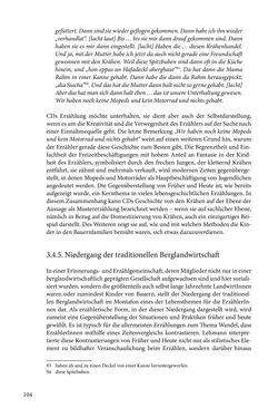Image of the Page - 104 - in Erzählen vom Leben im 20. Jahrhundert - Erinnerungspraxis und Erzähltraditionen in lebensgeschichtlichen Interviews am Beispiel der Region Montafon/Vorarlberg
