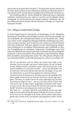 Image of the Page - 127 - in Erzählen vom Leben im 20. Jahrhundert - Erinnerungspraxis und Erzähltraditionen in lebensgeschichtlichen Interviews am Beispiel der Region Montafon/Vorarlberg
