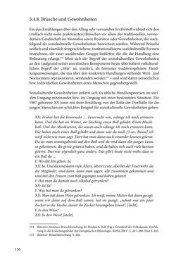 Image of the Page - 136 - in Erzählen vom Leben im 20. Jahrhundert - Erinnerungspraxis und Erzähltraditionen in lebensgeschichtlichen Interviews am Beispiel der Region Montafon/Vorarlberg