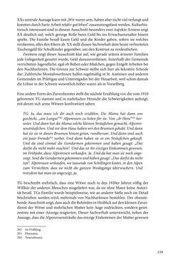 Bild der Seite - 159 - in Erzählen vom Leben im 20. Jahrhundert - Erinnerungspraxis und Erzähltraditionen in lebensgeschichtlichen Interviews am Beispiel der Region Montafon/Vorarlberg