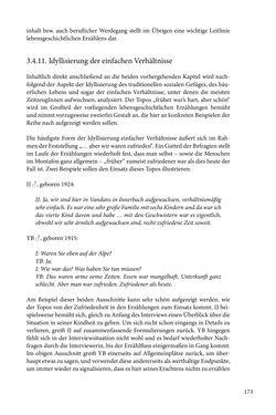 Image of the Page - 173 - in Erzählen vom Leben im 20. Jahrhundert - Erinnerungspraxis und Erzähltraditionen in lebensgeschichtlichen Interviews am Beispiel der Region Montafon/Vorarlberg
