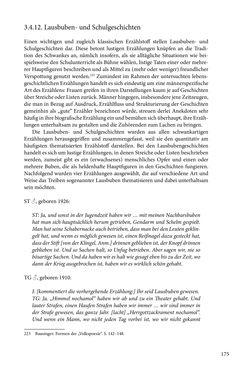 Image of the Page - 175 - in Erzählen vom Leben im 20. Jahrhundert - Erinnerungspraxis und Erzähltraditionen in lebensgeschichtlichen Interviews am Beispiel der Region Montafon/Vorarlberg