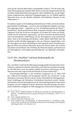 Image of the Page - 195 - in Erzählen vom Leben im 20. Jahrhundert - Erinnerungspraxis und Erzähltraditionen in lebensgeschichtlichen Interviews am Beispiel der Region Montafon/Vorarlberg