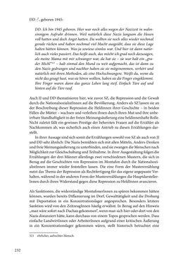 Bild der Seite - 232 - in Erzählen vom Leben im 20. Jahrhundert - Erinnerungspraxis und Erzähltraditionen in lebensgeschichtlichen Interviews am Beispiel der Region Montafon/Vorarlberg