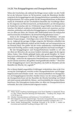 Image of the Page - 287 - in Erzählen vom Leben im 20. Jahrhundert - Erinnerungspraxis und Erzähltraditionen in lebensgeschichtlichen Interviews am Beispiel der Region Montafon/Vorarlberg