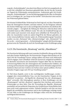 Image of the Page - 309 - in Erzählen vom Leben im 20. Jahrhundert - Erinnerungspraxis und Erzähltraditionen in lebensgeschichtlichen Interviews am Beispiel der Region Montafon/Vorarlberg