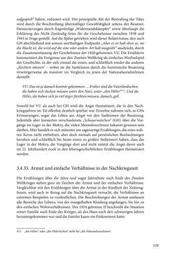 Image of the Page - 329 - in Erzählen vom Leben im 20. Jahrhundert - Erinnerungspraxis und Erzähltraditionen in lebensgeschichtlichen Interviews am Beispiel der Region Montafon/Vorarlberg