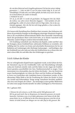 Image of the Page - 381 - in Erzählen vom Leben im 20. Jahrhundert - Erinnerungspraxis und Erzähltraditionen in lebensgeschichtlichen Interviews am Beispiel der Region Montafon/Vorarlberg