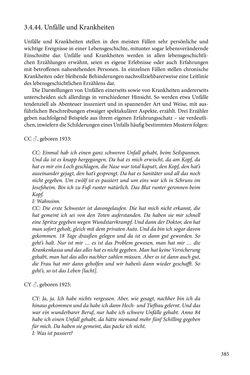 Image of the Page - 385 - in Erzählen vom Leben im 20. Jahrhundert - Erinnerungspraxis und Erzähltraditionen in lebensgeschichtlichen Interviews am Beispiel der Region Montafon/Vorarlberg