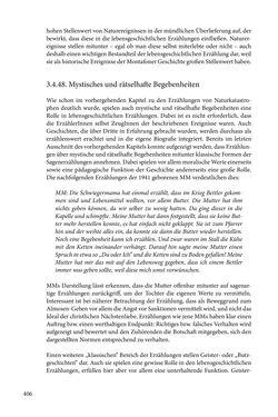 Image of the Page - 406 - in Erzählen vom Leben im 20. Jahrhundert - Erinnerungspraxis und Erzähltraditionen in lebensgeschichtlichen Interviews am Beispiel der Region Montafon/Vorarlberg