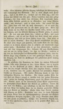 Bild der Seite - 417 - in Legenden der Heiligen auf alle Tage des Jahres - Die Herrlichkeit der katholischen Kirche, dargestellt in den Lebensbeschriebungen der Heiligen Gottes, Band 1