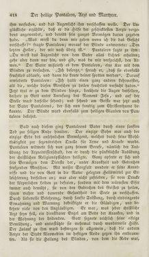 Image of the Page - 418 - in Legenden der Heiligen auf alle Tage des Jahres - Die Herrlichkeit der katholischen Kirche, dargestellt in den Lebensbeschriebungen der Heiligen Gottes, Volume 1