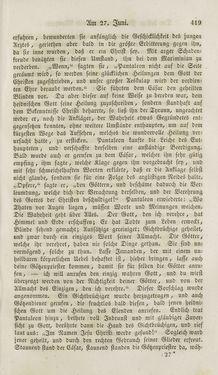 Bild der Seite - 419 - in Legenden der Heiligen auf alle Tage des Jahres - Die Herrlichkeit der katholischen Kirche, dargestellt in den Lebensbeschriebungen der Heiligen Gottes, Band 1
