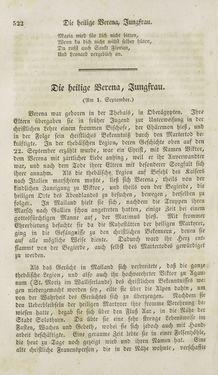 Bild der Seite - 522 - in Legenden der Heiligen auf alle Tage des Jahres - Die Herrlichkeit der katholischen Kirche, dargestellt in den Lebensbeschriebungen der Heiligen Gottes, Band 1