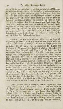 Bild der Seite - 874 - in Legenden der Heiligen auf alle Tage des Jahres - Die Herrlichkeit der katholischen Kirche, dargestellt in den Lebensbeschriebungen der Heiligen Gottes, Band 1