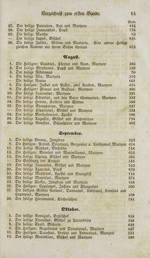 Bild der Seite - 15 - in Legenden der Heiligen auf alle Tage des Jahres - Die Herrlichkeit der katholischen Kirche, dargestellt in den Lebensbeschriebungen der Heiligen Gottes, Band 1