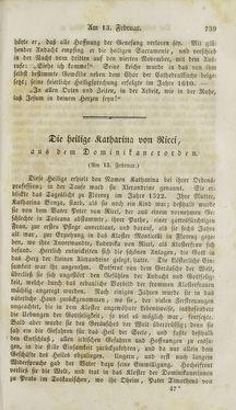 Image of the Page - (000741) - in Legenden der Heiligen auf alle Tage des Jahres - Die Herrlichkeit der katholischen Kirche, dargestellt in den Lebensbeschriebungen der Heiligen Gottes, Volume 2