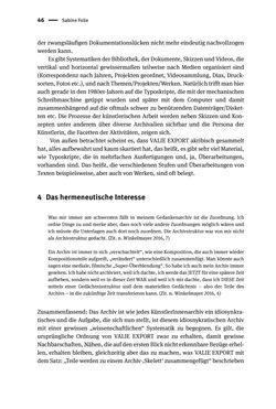Image of the Page - 46 - in Logiken der Sammlung - Das Archiv zwischen Strategie und Eigendynamik