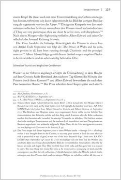 Bild der Seite - 125 - in Die Macht auf dem Gipfel - Alpentourismus und Monarchie 1760–1910