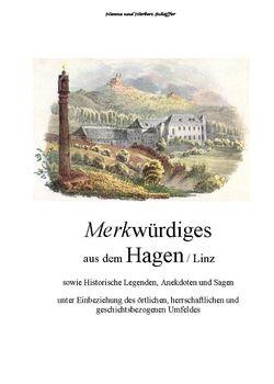 Bild der Seite - Titelblatt vorne - in Merkwürdiges aus dem Hagen  - Sowie historische Legenden, Anekdoten und Sagen