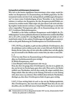Bild der Seite - 131 - in Von PISA nach Wien - Historische und politische Kompetenzen in der Unterrichtspraxis
