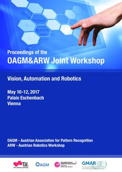 Image of the Page - (000001) - in Proceedings of the OAGM&ARW Joint Workshop - Vision, Automation and Robotics