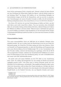 Bild der Seite - 315 - in Reflexionen vor Reflexen - Memoiren eines Forschers