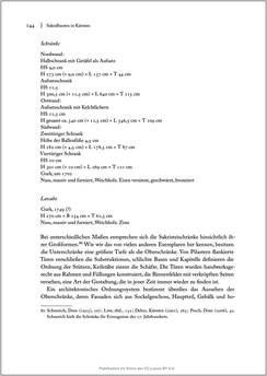 Bild der Seite - 144 - in Sakralmöbel aus Österreich - Von Tischlern und ihren Arbeiten im Zeitalter des Absolutismus, Band II: Kunstlandschaften im Norden, Süden und Westen