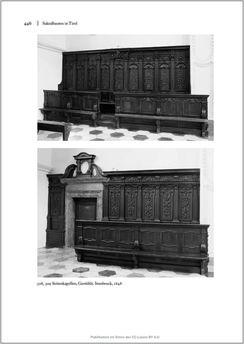 Bild der Seite - 446 - in Sakralmöbel aus Österreich - Von Tischlern und ihren Arbeiten im Zeitalter des Absolutismus, Band II: Kunstlandschaften im Norden, Süden und Westen