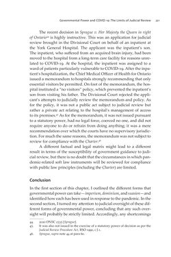 Bild der Seite - 221 - in VULNERABLE - The Law, Policy and Ethics of COVID-19