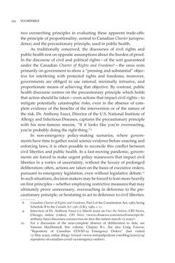Bild der Seite - 252 - in VULNERABLE - The Law, Policy and Ethics of COVID-19