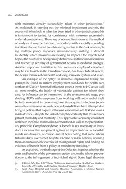 Image of the Page - 260 - in VULNERABLE - The Law, Policy and Ethics of COVID-19